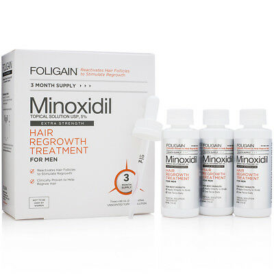 FOLIGAIN 5% MINOXIDIL TOPICAL SOLUTION (3 MONTH) hair regrowth treatment for men