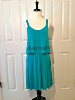 KENSIE Women's Tahiti Teal Popover Dress Size Small NWT