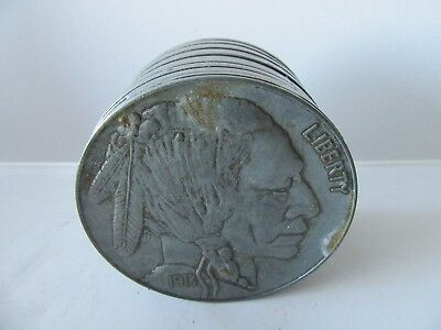 1913 LIBERTY NICKEL BANK (Antique White Metal Still Bank)