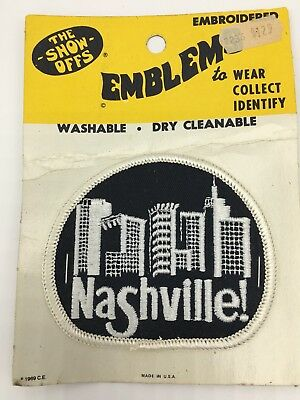 Nashville USA Embroidered Patch Show Offs 1969 New in Package Emblem Music City