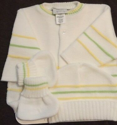 Nwt Magic Years Sz 0/6Mo 3 Piece Sweater Set , Sweater, Hat And Socks
