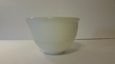 Vintage Glasbake Mixing Bowl Made for Sunbeam -  White Milk Glass - No 15 spout