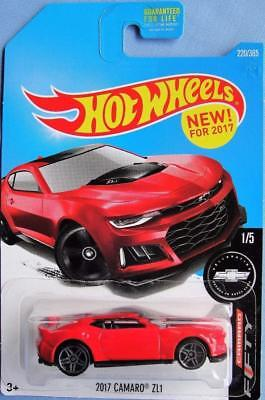 2017 Hot Wheels Camaro Zl1 220 365 Red Fifty Cast
