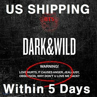 US SHIPPING BTS-[Dark&Wild]1st Album CD+PhotoBook+PhotoCard+Gift DARK and WILD