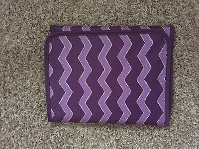 Thirty One 31 Fold It Up Organizer Plum Chevron Fits Tablets