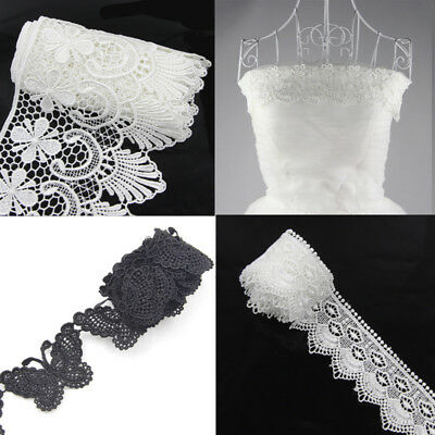 DIY Vintage Embroidered Lace Edge Trim Wedding Gift Ribbon Applique Sewing Craft