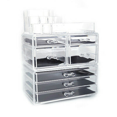 Jewelry Lipstick Holder Display Cosmetic Organizer Makeup Case Storage Drawer