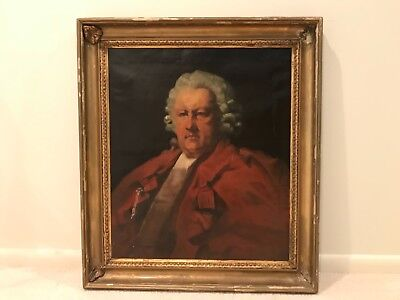 Rare Antique 19th Century Portrait of Gentleman Man Judge British School E