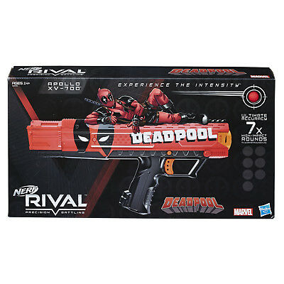 Nerf Rival Deadpool Apollo Blaster with 7 Round Magazine and 7 Rounds