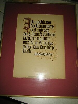 propaganda posters in the frame  all ww2  NSDAP   lot of 3 posters