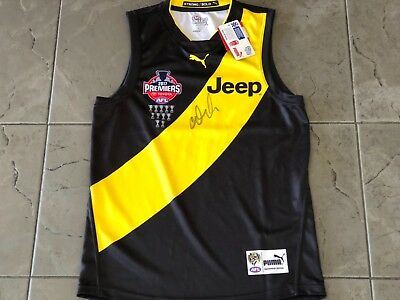 Dustin Martin SIGNED Richmond Tigers 2017 AFL Premiers Puma Guernsey PROOF