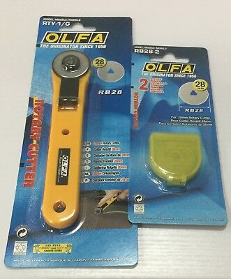 OLFA ROTARY CUTTER 28mm Plus Spare blade