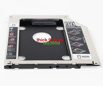 2nd HDD SSD SATA Hard Drive Caddy Bay for Apple MacBook Pro Unibody SuperDrive