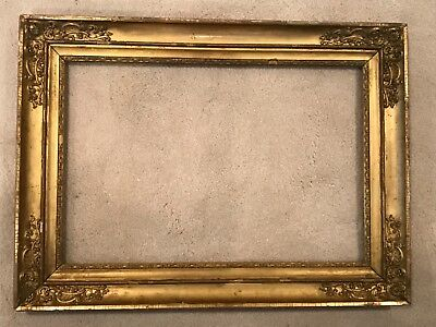 19th Century Antique Gold Gilt Gilded American Federal Empire Picture Frame C