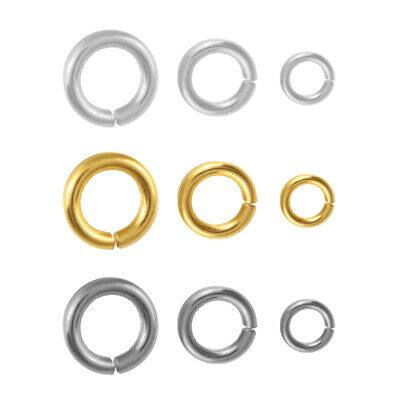 Sterling Silver Open Jump Rings Gold Plated for Jewellery Making * Many Sizes