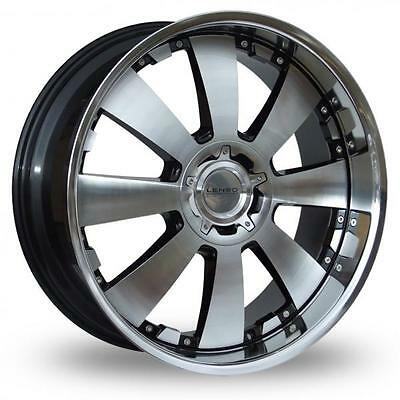"18"" Lenso Concerto Black Polished Alloy Wheels Only Brand New 4X100 Et35 Rims"