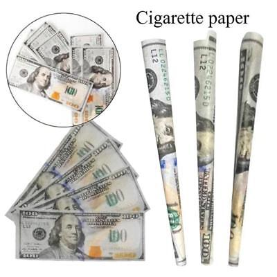 Full pack of 10 papers - $ 100 Dollar Bill Rolling Papers - Cigarette
