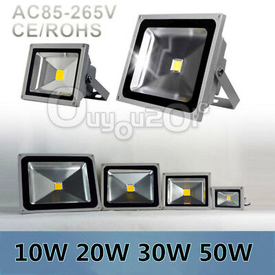 10W 20W 30W 50W LED Flood Light Outdoor Landscape Garden Wall Lamp Waterproof