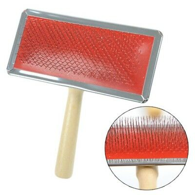 Pet Dog Cat Hair Brush Pin Fur Grooming Trimmer Comb Tool Wooden Handle Comb Hot