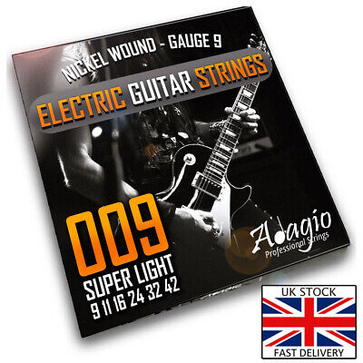 Adagio Pro ELECTRIC GUITAR Strings Pack Extra Light 9-42 – 9s Nickel Wound Set