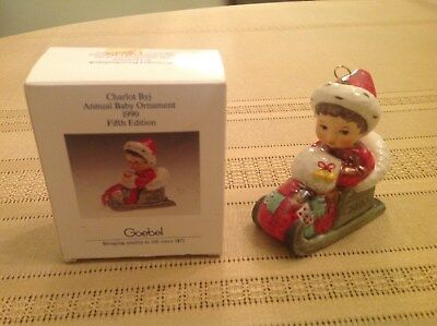 Goebel Charlot Byj Annual Baby Ornament 1990--Made In W. Germany