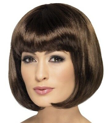 Ladies Bob Fancy Dress Wig Partyrama Costume Wig Brown by Smiffys Cosplay