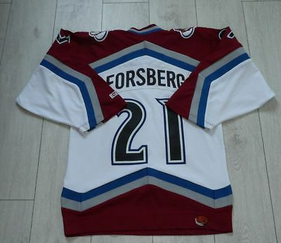 "Colorado Avalanche #21 Forsberg ""S"" Adults CCM Jersey Shirt NHL Ice Hockey"