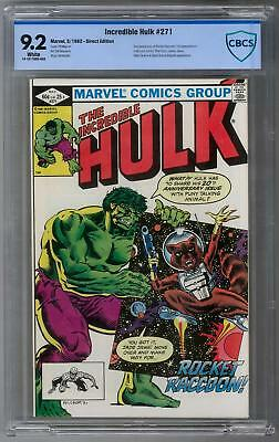 Incredible Hulk #271 CBCS 9.2 (W) 1st Rocket Raccoon Appearance Full Color