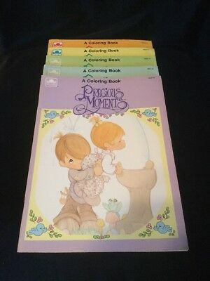 1990 Precious Moments Coloring Book Five Pack