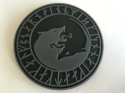 viking wolf ARMY TACTICAL MORALE BADGE PVC rubber PATCH
