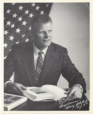 New Jersey Congressman HENRY HELSTOSKI Photo and Autorgraphed Letter dated 1978