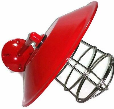 """Red Barn Light Gas Station Lamp 12"""" Wall Mount Kitchen Bathroom Man Cave"""