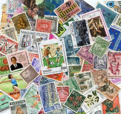100 Different All World Mixed Stamps Good/Fine Used  99p per packet (BZ)