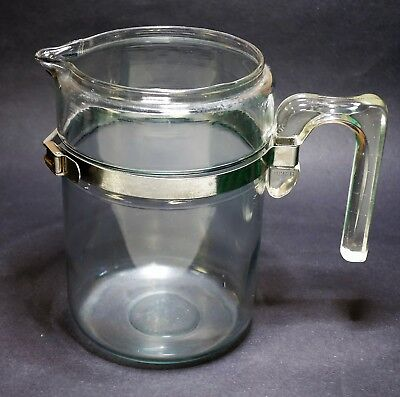 Vintage Pyrex Flameware Stove Top Coffee Pot Only 7826-B Blue Tint 6 Cup