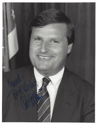 MASSACHUSETTS Congressman CHESTER ATKINS Autographed 7 X 9 PHOTO + 1988 LETTER