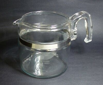 Vintage 6 Cup Pyrex Glass Coffee Pot Only Blue Tint 7756-B Flameware