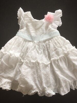 8acfab481e0 Baby Girl White Summer Laura Ashley Dress 6-9 Months