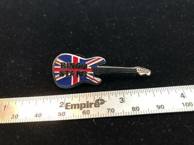 Ringo Starr Flag Guitar Pin - The Beatles Great Britain England Rock Music
