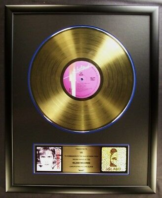 U2 War LP Gold Non RIAA Record Award Island Records To U2