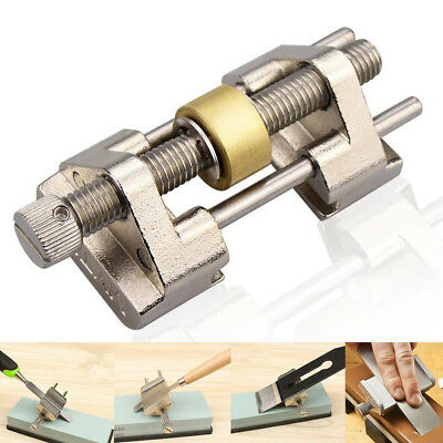 Self-Centering Side Clamping Sharpening Honing Guide Chisel Edge Tool Gold UK