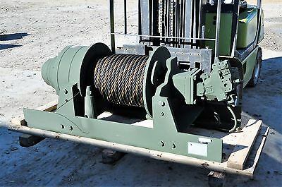 Winch 60,000 Lb.NEW-Military DP Manu. Hydraulic Planetary 170 feet 1 Inch Cable