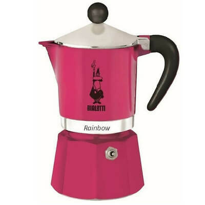 Bialetti Rainbow Moka Coffee Maker - 6 Cup (300ml) Fuchsia