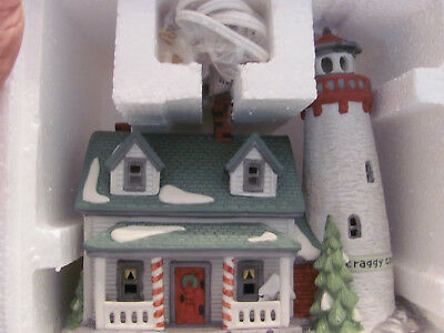 "Dept. 56 Heritage/New England Village Series  ""CRAGGY COVE LIGHTHOUSE"" Unused"