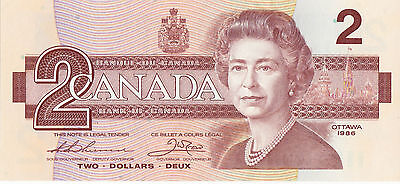Canada 1986 Two Dollar Bank Note  Thiessen, Crow  Uncirculated