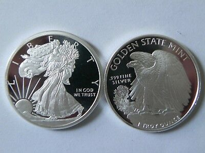 10 - 1 oz. 999 Fine Silver Rounds -- Walking Liberty Design - BU - New