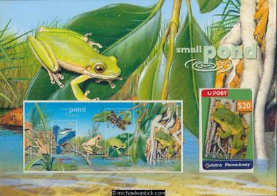 "Australia 1999 ""Small Pond"" Telstra $20 Phonecard & Stamp Pack"