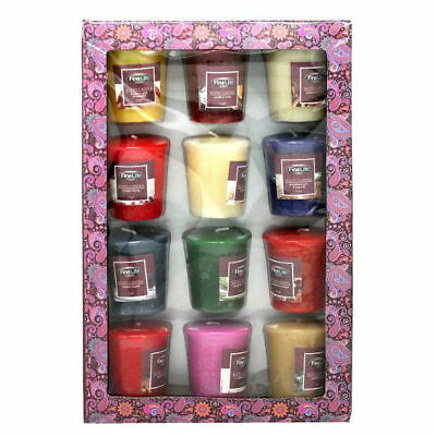 Finelife Mini Scented Candle Gift Set 12Pc Multiple Unique Scents Quality Decor