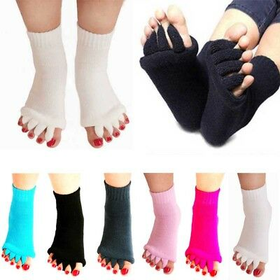 Yoga GYM Massage Open Five Toes Separator Sock Foot Alignment Pain Relief Gift
