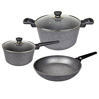 Non stick Cookware Set, Blue stone Frypan, Saucepan, Casserole, Induction 5pc4