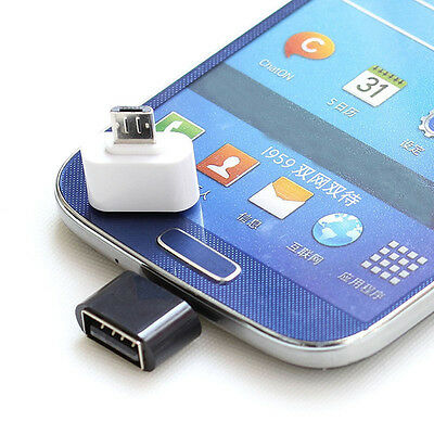 2X Micro USB Male to USB 2.0 Adapter OTG Converter For Android Tablet Phone New